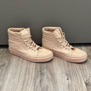 Pink VANS High Top Canvas Sneakers